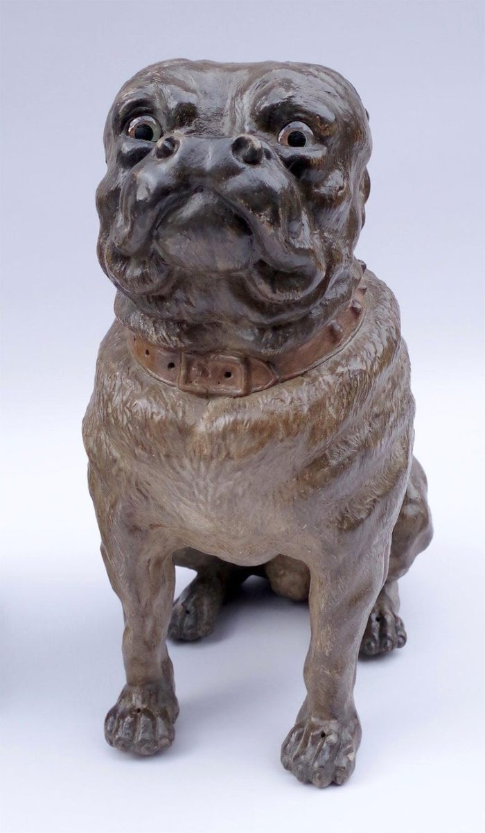 chien bouledogue français céramique