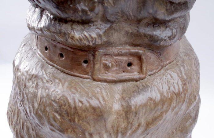 chien bouledogue céramique collier