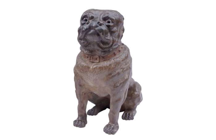 bulldog ceramic sculpture