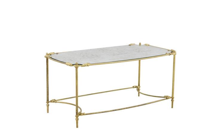 table basse style transition laiton doré