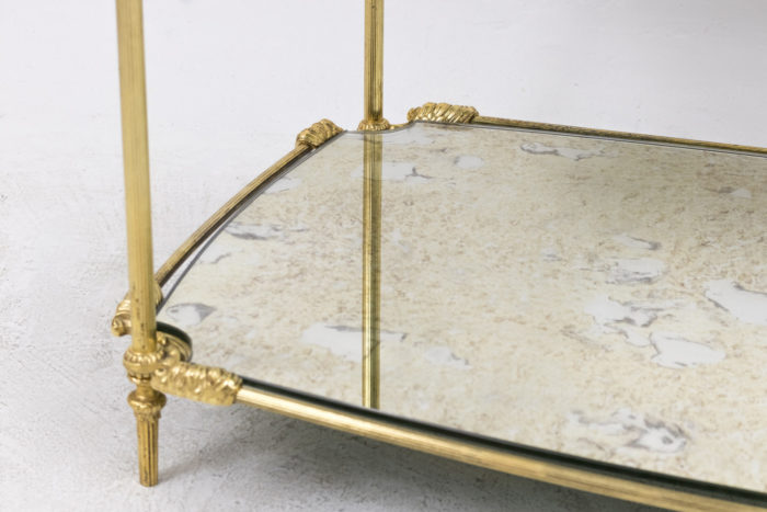 table basse style transition miroir oxydé