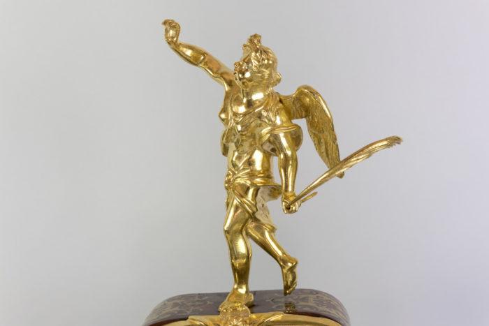 cartel boulle style régence figure renomée bronze doré