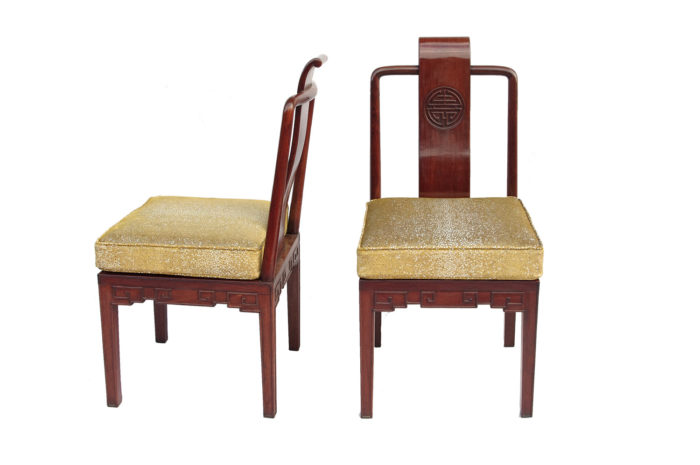 pair of chinese style chairs ming mahogany 2