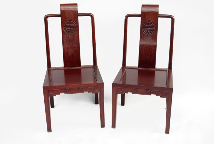 pair of chinese style chairs ming simple
