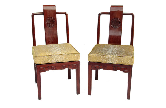 pair of chinese style chairs ming main