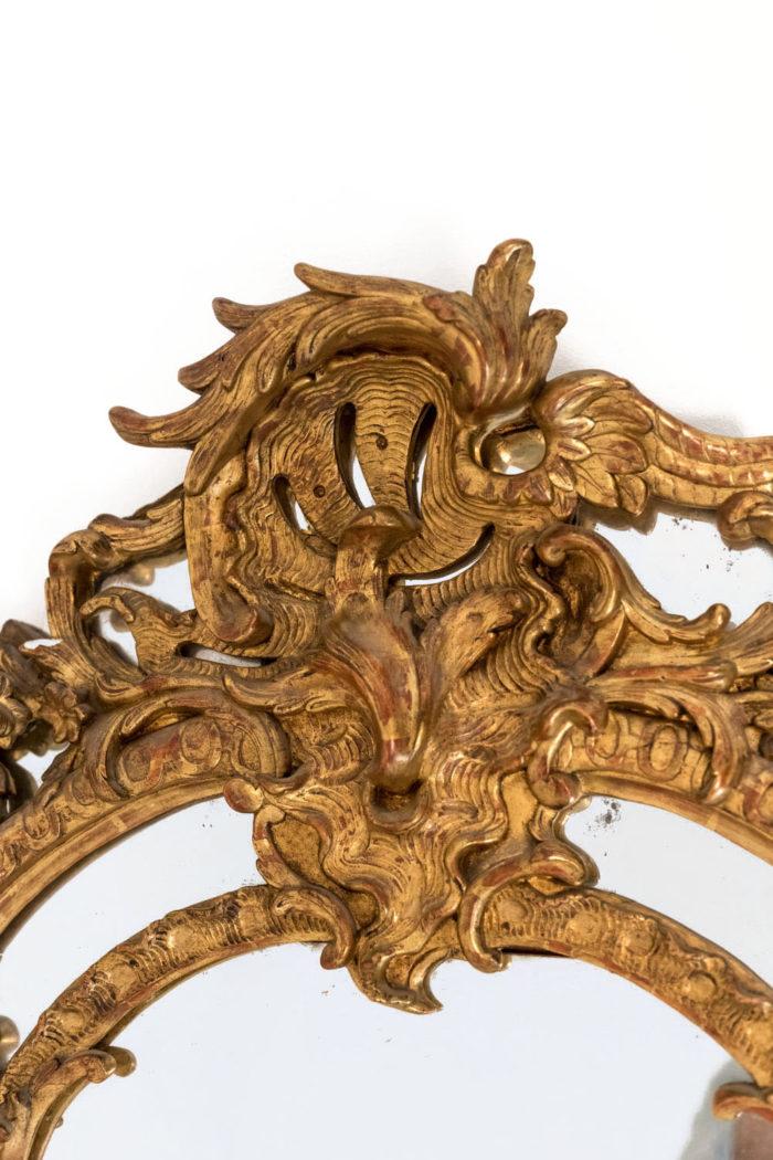 miroir parcloses régence cartouche