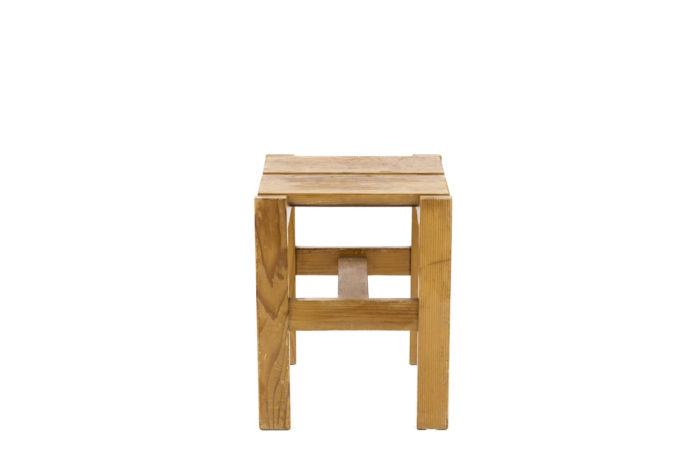 charlotte perriand les arcs stool side