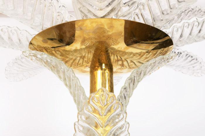 lampadaire palmier verre laiton doré detail coupe