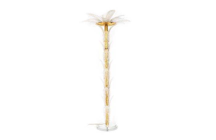 floor lamp palm tree glass gilt brass main
