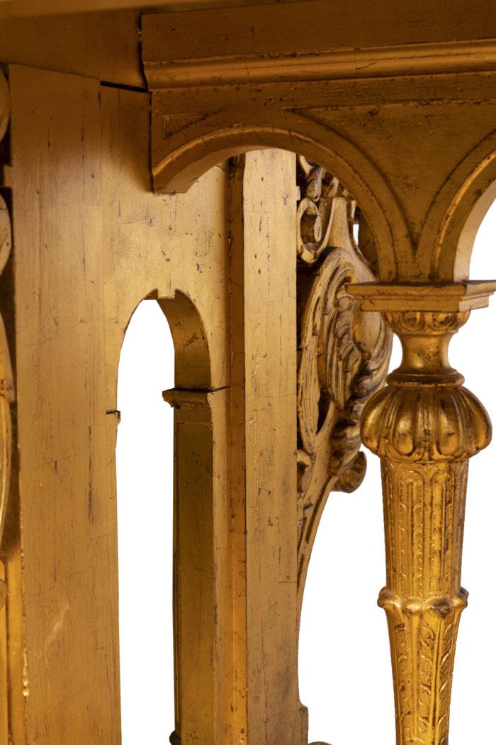 table style renaissance bois doré piètement