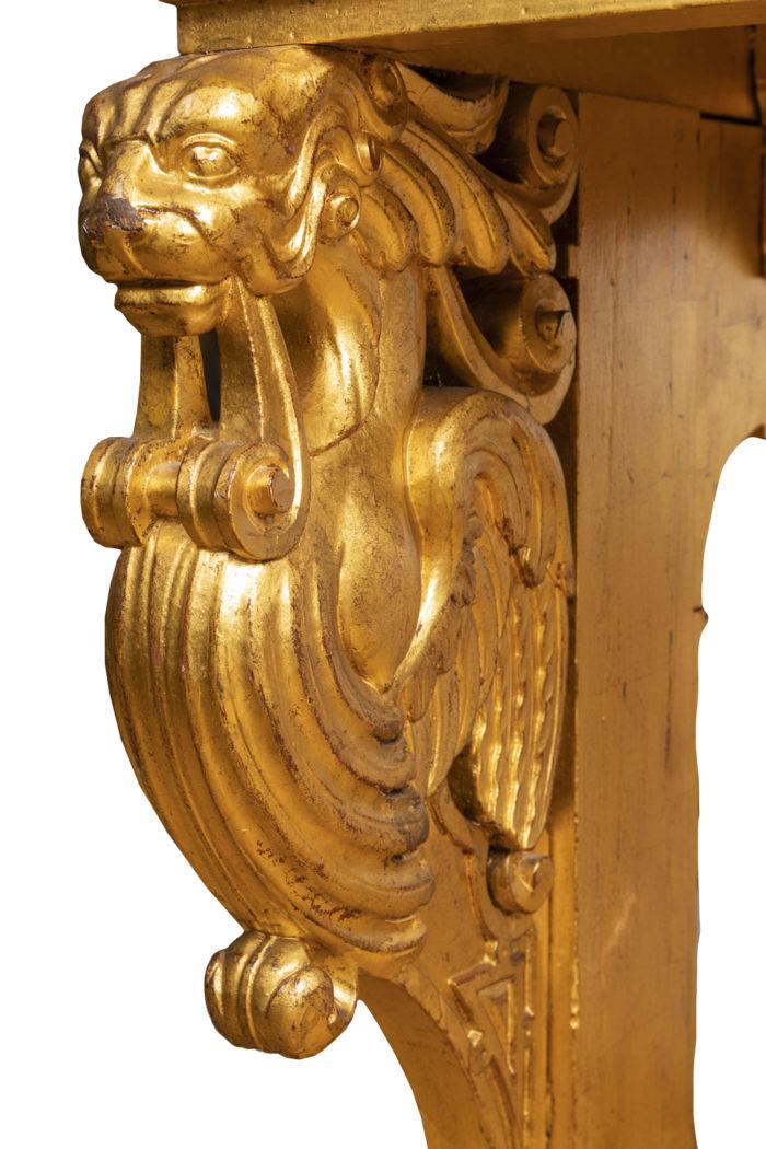table style renaissance sphinge bois doré