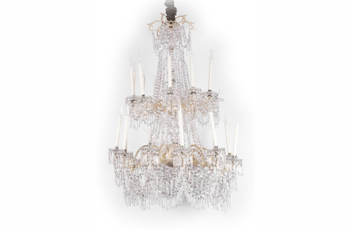 large chandelier silvered bronze crystal prcpl