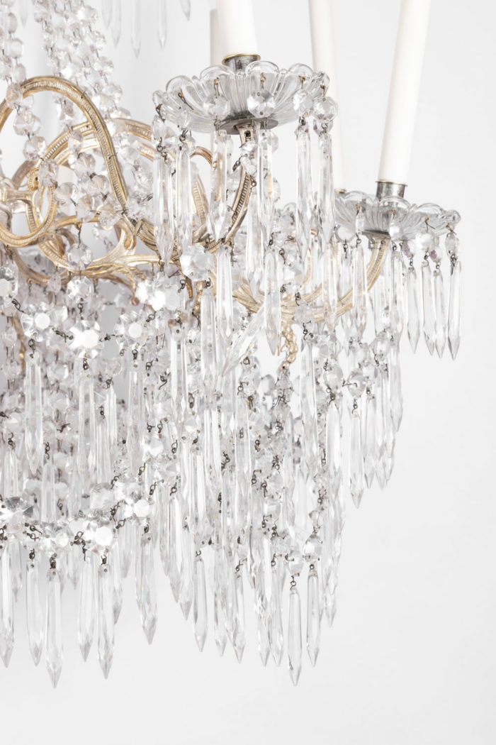 lustre pampilles cristal glaçons