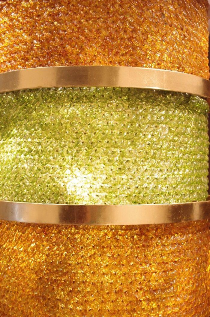 lantern yellow and green glass gilt metal
