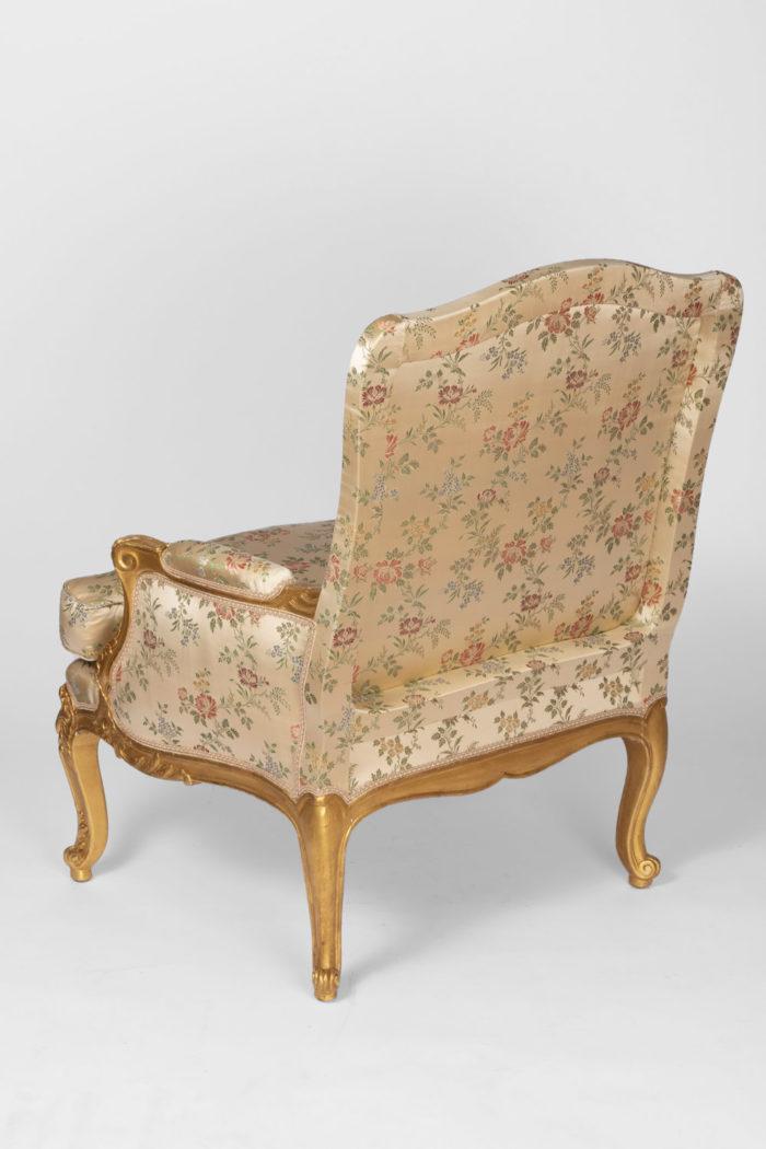fauteuils style louis xv dos