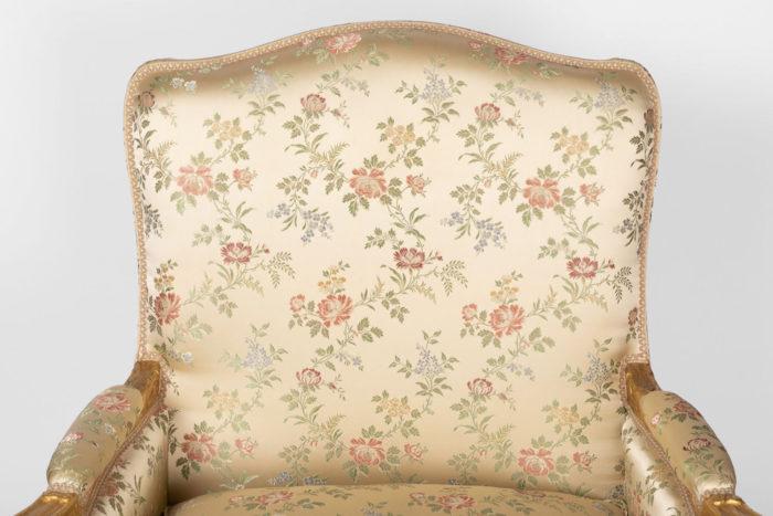 bergères style louis xv tissu fleurs