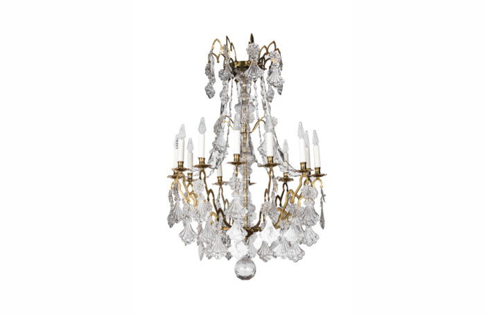 chandelier gilt bronze crystal prcpl