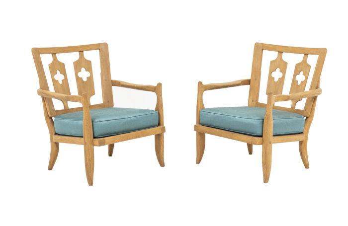 guillerme et chambron fauteuils chêne