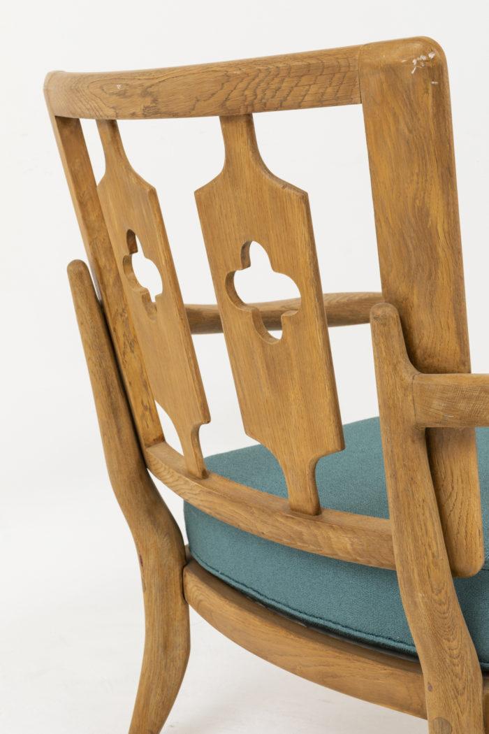 guillerme chambron fauteuils dossier trèfles