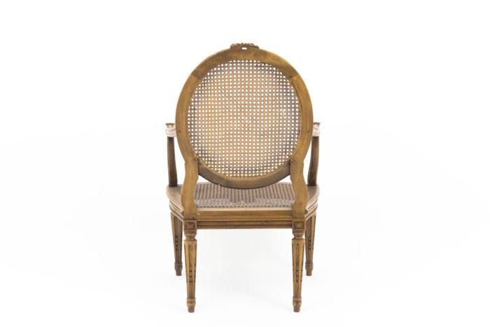 fauteuils style louis xvi noyer dos