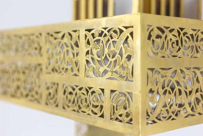 oriental style chandelier gilt brass scrolls
