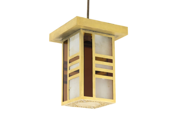 lanterne style oriental laiton doré verre