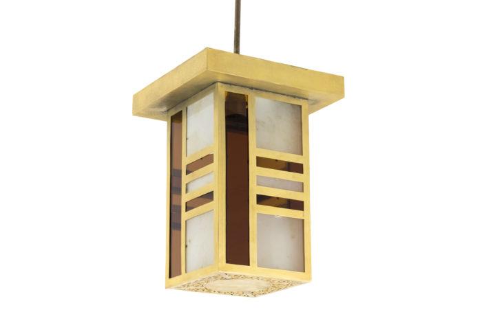 oriental style chandelier gilt brass glass