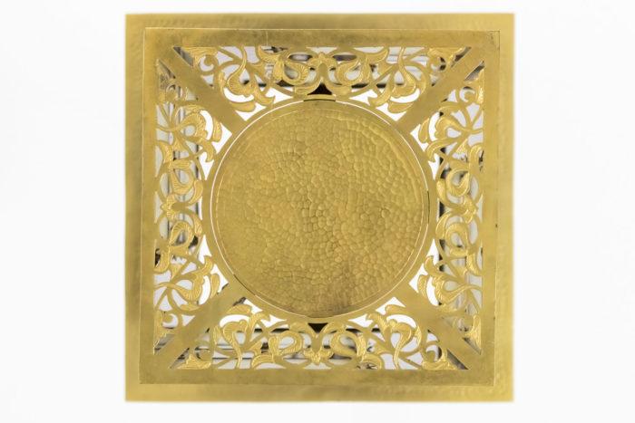 oriental style chandelier scrolls gilt brass