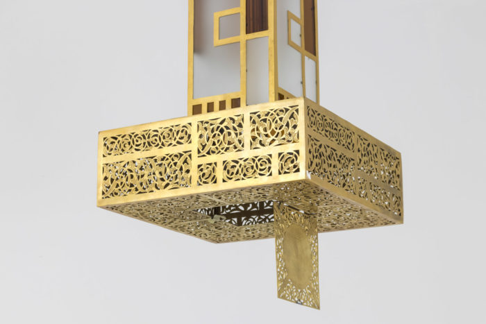 oriental style chandelier openwork base