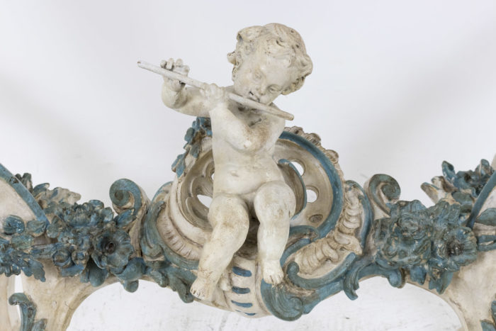 console style louis xv putto jouant flûte