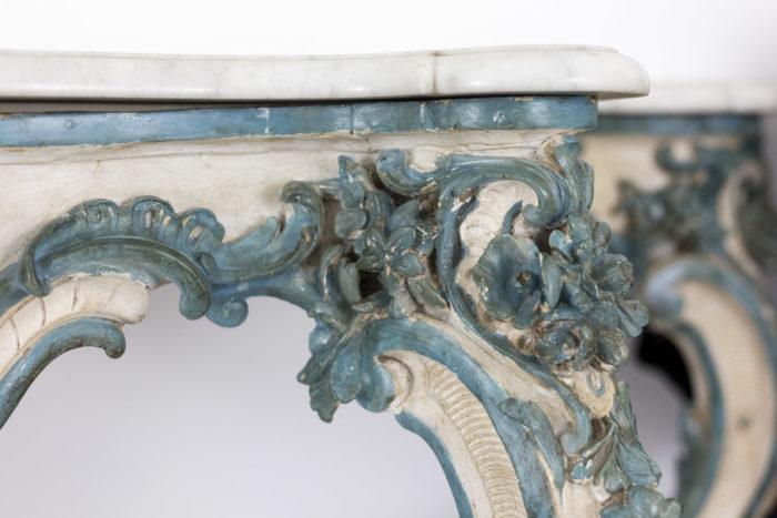 console style louis xv décor sculpté