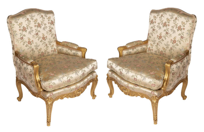 louis xv style bergere gilt wood