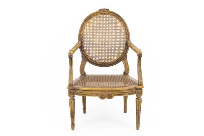 fauteuils style louis xvi cannés noyer face