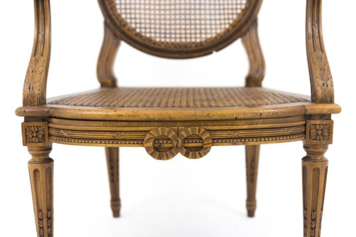 fauteuils style louis xvi ceinture noeud