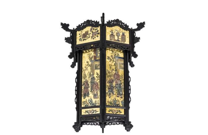 chinese style chandelier napoleon III eglomise glass