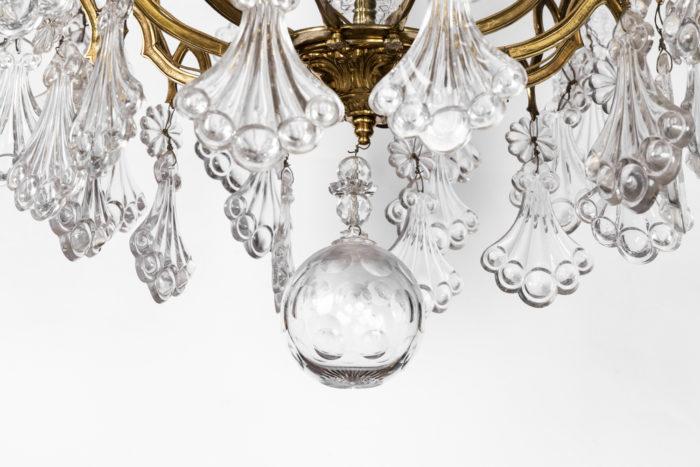 lustre cristal amortissement boule