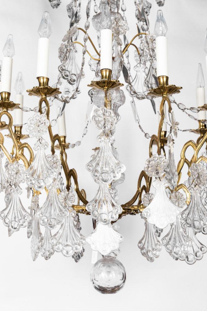 lustre cristal bronze doré