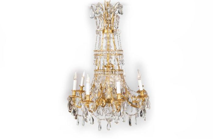 lustre trianon marie antoinette bronze doré pcple