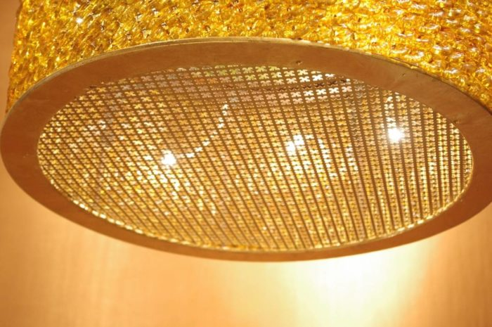 lantern glass yellow green bottom