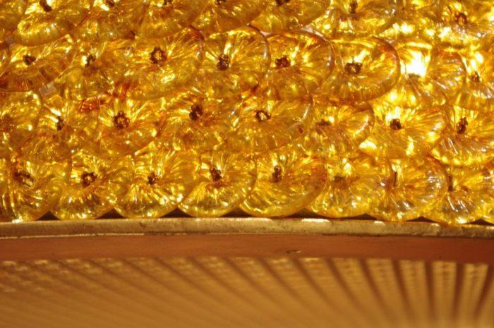 lantern glass yellow green detail