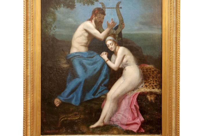 tableau roucoule couple orphée eurydice lyre