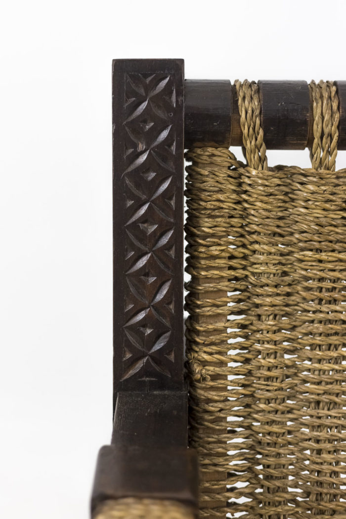 fauteuil art déco pitchpin gravé