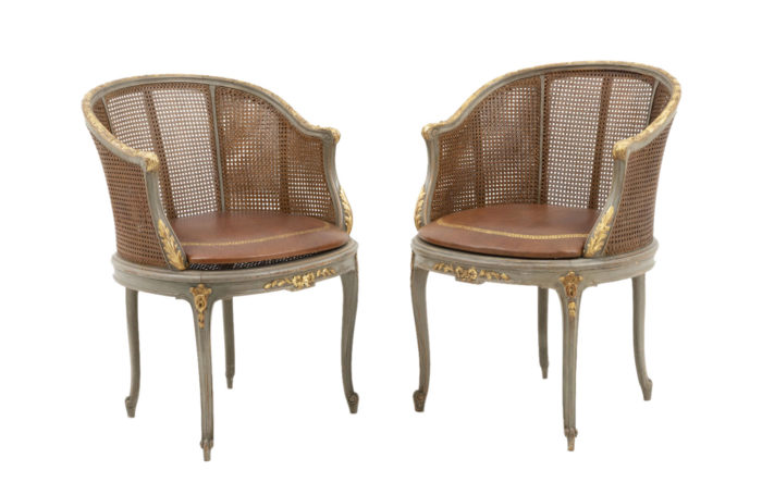 louis xv style bergeres cane