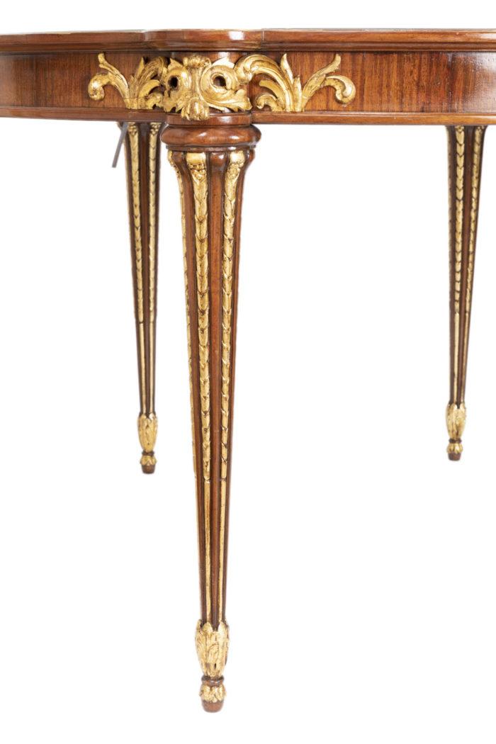 table à jeux style louis xvi pieds fuselés cannelés rudentés
