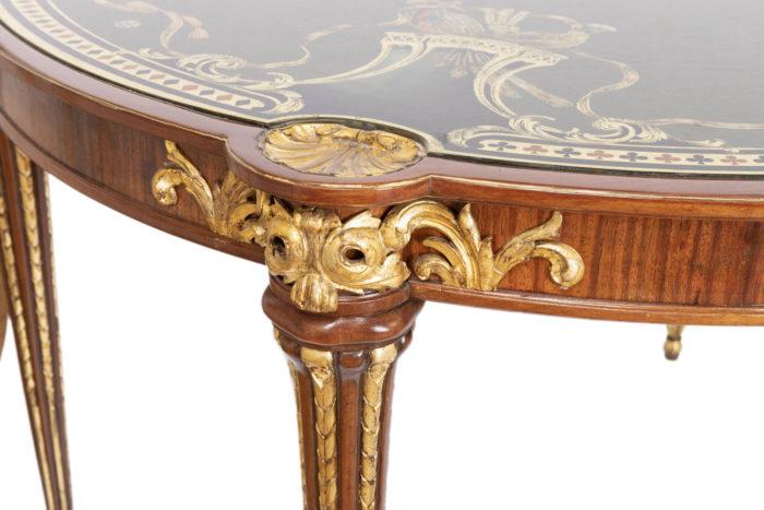 table à jeux style louis xvi bois doré