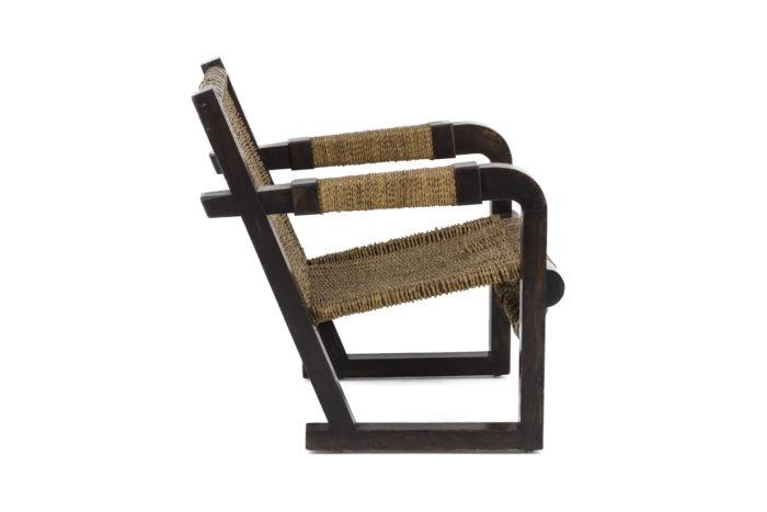 fauteuil art déco pitchpin corde