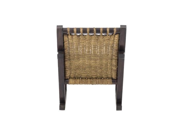 fauteuil art déco pitchpin corde dos