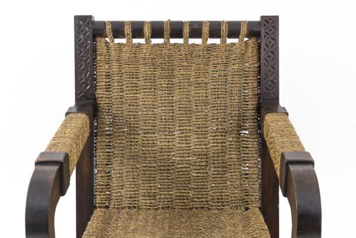 fauteuil art déco pitchpin corde dossier
