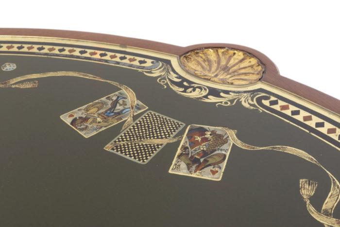 table à jeux style louis xvi cartes à jouer
