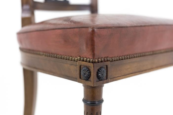 chaises style directoire dés rosace